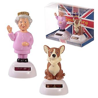 Collectable Queen and Corgi Solar Powered Pal Set