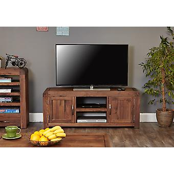 Nuez de Shiro Widescreen televisión gabinete Brown - muebles