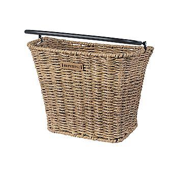 Basil Bremen front bicycle basket (rattan look) / / removable