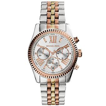Michael Kors MK5735 Ladies Lexingoton Chronograph Watch - Rose-Gold/Silver