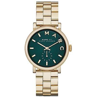 Marc Jacobs MBM3245 Baker Green Dial Gold-tone Ladies Watch