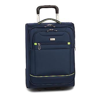Fabrizio Worldpack Skyline Hand Luggage Trolley S, 4 Roues, 51 cm, 27 L, Bleu