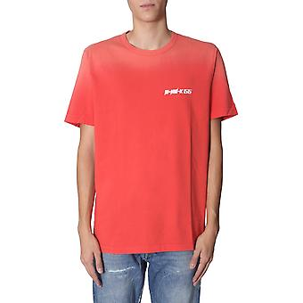 Diesel 00sxm40pawm42u Uomo's T-shirt Red Cotton