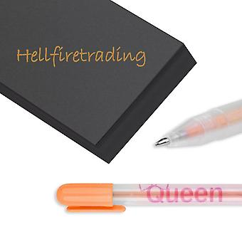 Pen Set Neon Multi Colour Gel Ink Biro Candy for Scrapbook Card Making[Orange] BUY 2 GET 1 FREE