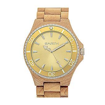 Reloj de pulsera de centurión de madera de la tierra - Khaki/Tan