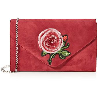 SwankySwans Poppy Faux Fur Suede - Red Woman Day Pochette (Burgundy) 5x13.5x22.5 cm (W x H x L)