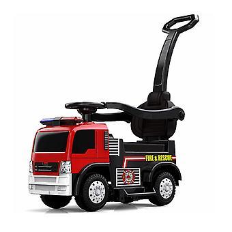 ES-Toys Kinder Elektrorutscher Feuerwehr Sirene Alarm-Lichter Sicherheitsbügel
