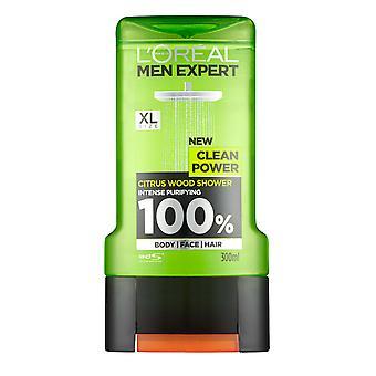 L-apos;Oréal Men Expert par LOreal Shower Gel Citrus Wood Clean Power 300ml