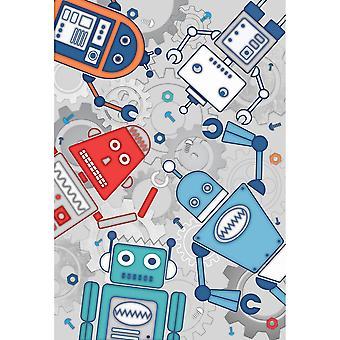 Кайагзы дома робот настенные росписи