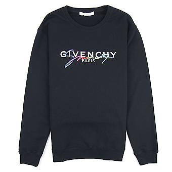 Givenchy Signatur Sweatshirt Svart