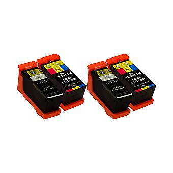 RudyTwos 2 x ersättning för Dell X768N X769N ange bläck enhet svart & Tri-färg kompatibel med P513W, V313, V313W, P713W, V715W, V515W