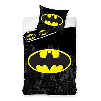 Batman Logo einzelne Baumwolle Bettbezug und Kissenbezug Set
