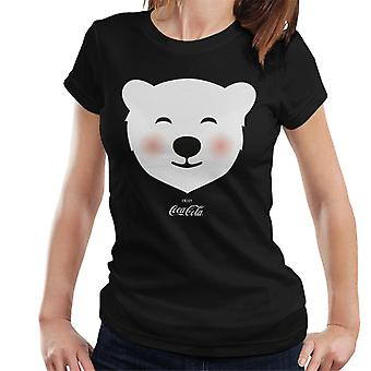 Coca Cola Polar Bear Blush kvinnors T-shirt