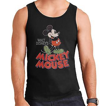 Disney Mickey Mouse voller Vintage Poster Design Männer's Weste