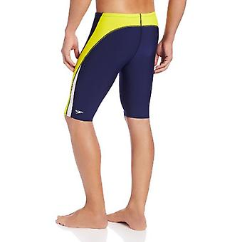 Speedo Men and Boys' Endurance- Launch Splice Jammer, Navy/Gold, Size 32
