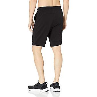 "Essentials Men's Soft-Tech 9"" Training Short, Black, Small"