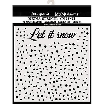 Stamperia Thick Stencil 18x18cm Let's Snow