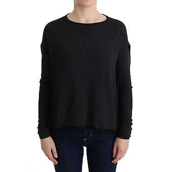 Suéter de malha de viscose cinza