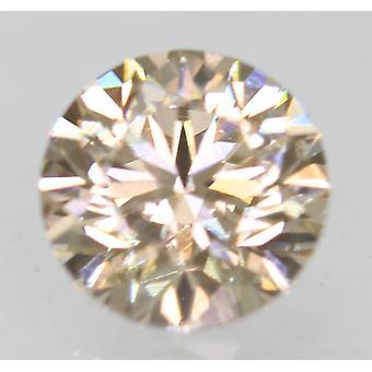 Cert 0.71 カラット トップライトブラウン VVS1 ラウンド ブリリアント ナチュラルルーズ ダイヤモンド 5.6m