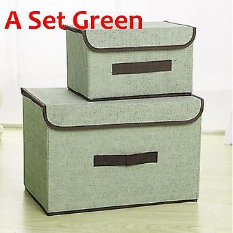 Storage Boxes With Lids No Smell Polyester Fabric Clear Storage Baskets Containers Bins With Double Cover Organizer