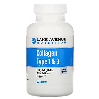 Lake Avenue Nutrition, Hydrolyzed Collagen Type 1 & 3, 1,000 mg, 60 Tablets
