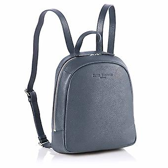 Poppy Mini Leather Backpack in Petrol Richmond Chrome Free Leather