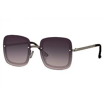 النظارات الشمسية السيدات القط مستطيلة بلا حدود. 3 أسود / بنفسجي