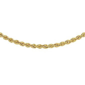 TJC Rope Chain Necklace for Women 9ct Yellow Gold Size 18""