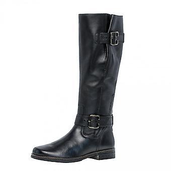 غابور نيفادا الجلود الركبة أحذية عالية في الأسود