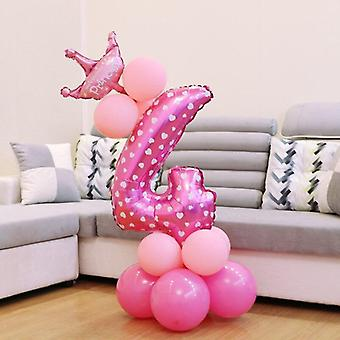 Cute Number Foil Balloons For Party Decorations