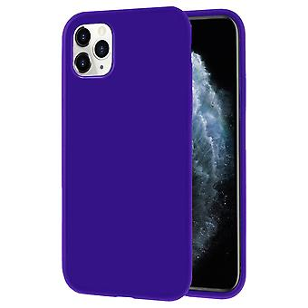 Soft Mobile Protection for iPhone 11 Pro Thin Solid Color Lightweight Silicone Ultra-Slim Purple