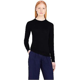 Meraki Women's Merino Crew Neck Sweater, (Black), EU XL (EUA 12-14)