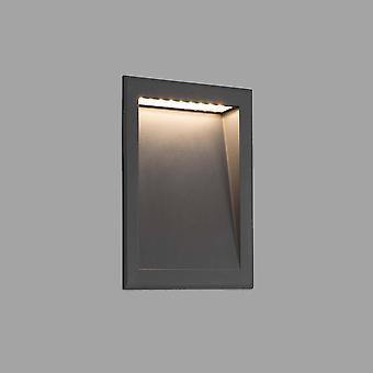 LED Outdoor Recessed Wall Light Dark Grey IP65