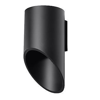 Sollux PENNE - 1 valo ylös seinä musta, G9