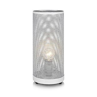 1 lichte binnentafellamp wit, E14