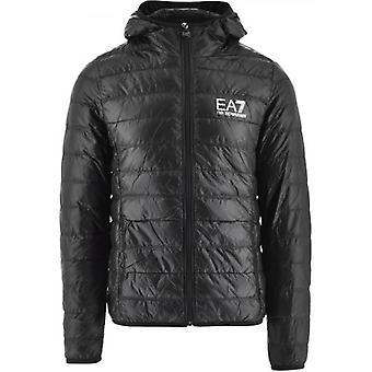 EA7 Black Down Slim Fit Jacket