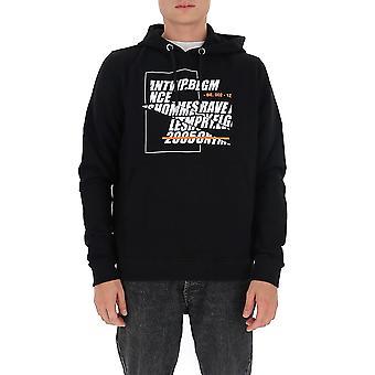 Les Hommes Ljh410782p9000 Men's Black Cotton Sweatshirt