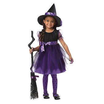 Girls Age  - 6 Years Purple Witch Halloween Fancy Dress Costume