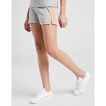 Novo adidas Girls' Core 3-Stripes Shorts Cinza