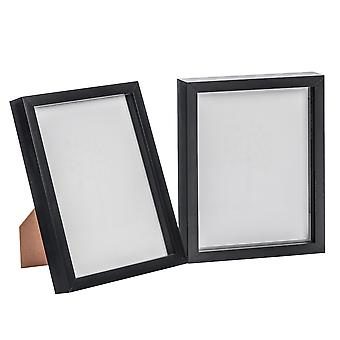 Nicola Frühling schwarz 8 x 10 Box Fotorahmen - stehend & hängend - Packung mit 2