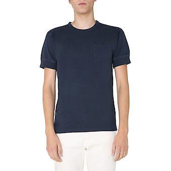 Nigel Cabourn Ncosj51bluenavy Men's Blue Cotton T-shirt