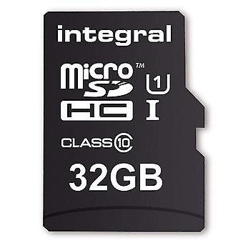 Integral 32 GB MicroSD Card Class 10 with Adapter (Model No. INMSDH32G10)