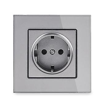 Wall Mounted Power Socket  Glass Panel-eu Standard