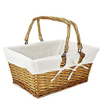 Willow Storage Basket with Cotton Lining | M&W Brown