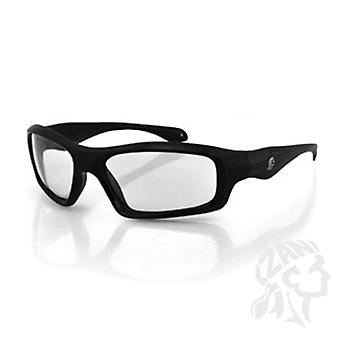 Balboa EZSE001C svart ram Seattle solglasögon - klar lins