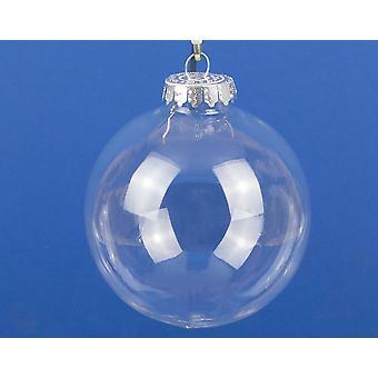 Único 100mm claro Fillable plástico enfeite bauble Natal