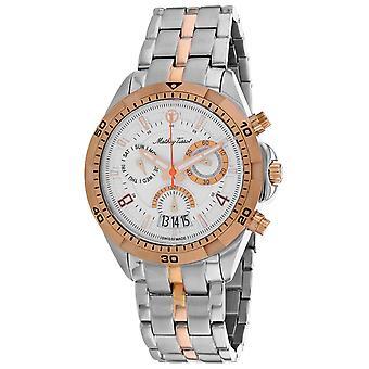 Mathey Tissot Hombres's Bolton reloj de marcación blanca - H5002CHRA