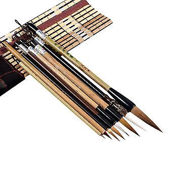 Conjunto de pincéis de caligrafia de bambu, ferramenta de pintura de arte de escrita