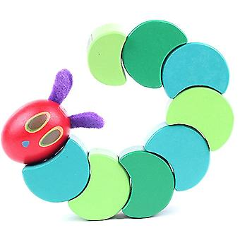 Wooden Baby Fingers Flexible Insects Twist The Very Hungry Caterpillars Anime