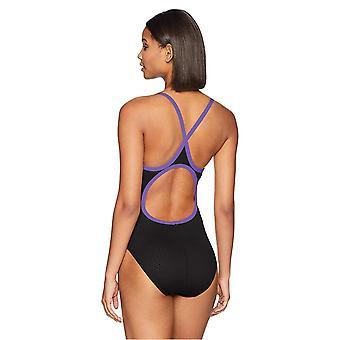 TYR Women's Hexa Diamondfit Traje de baño, Negro/Púrpura, 34